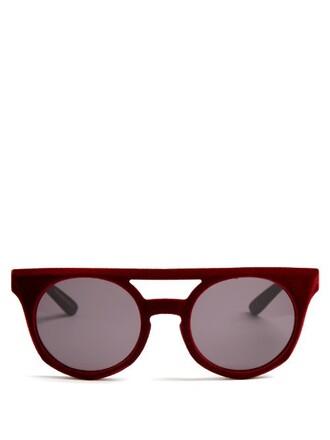 sunglasses velvet red