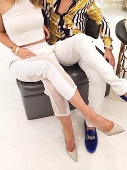 white white pants kylie jenner