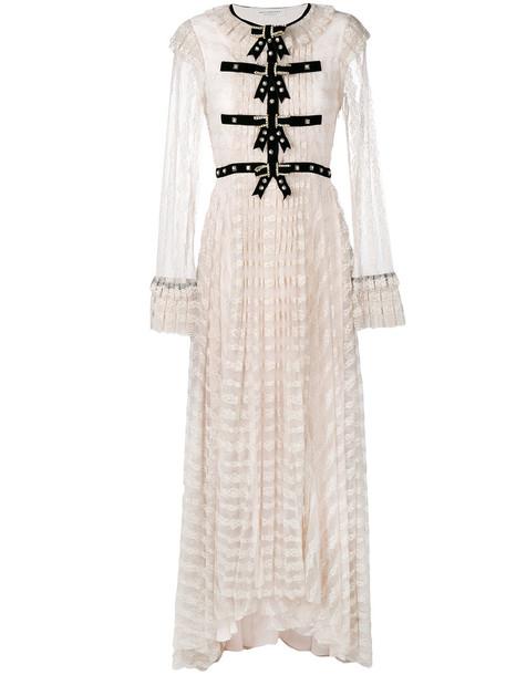 Philosophy di Lorenzo Serafini dress lace dress women embellished lace purple pink