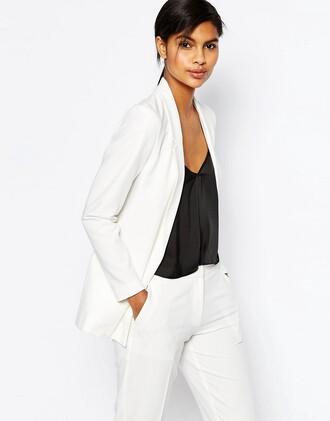 jacket white white jacket long blazer