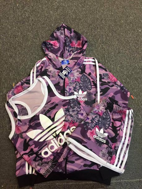Floral Adidas Tracksuit July 2017