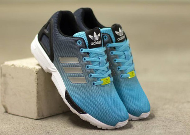 separation shoes d2f5d 83c8c shoes adidas shoes adidas zx flux tiffany blue shoes blue and black black  and blue blue