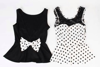 top black and white fashion toast spots bow polka dots
