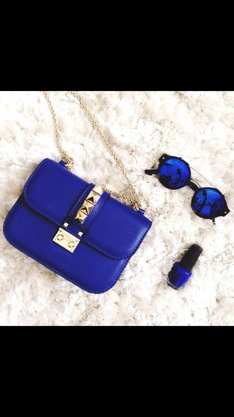 bag blue bag little bag handbag shoulder bag