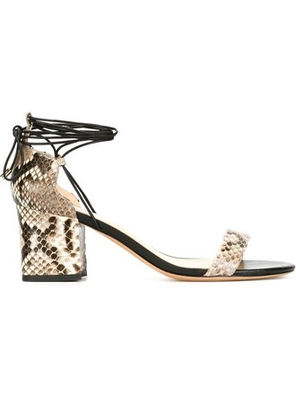 python sandals print black shoes