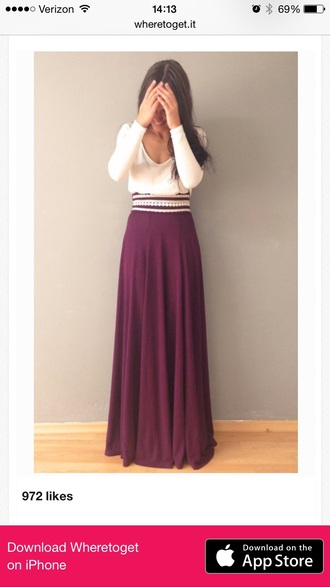 skirt maroon/burgundy maxi skirt
