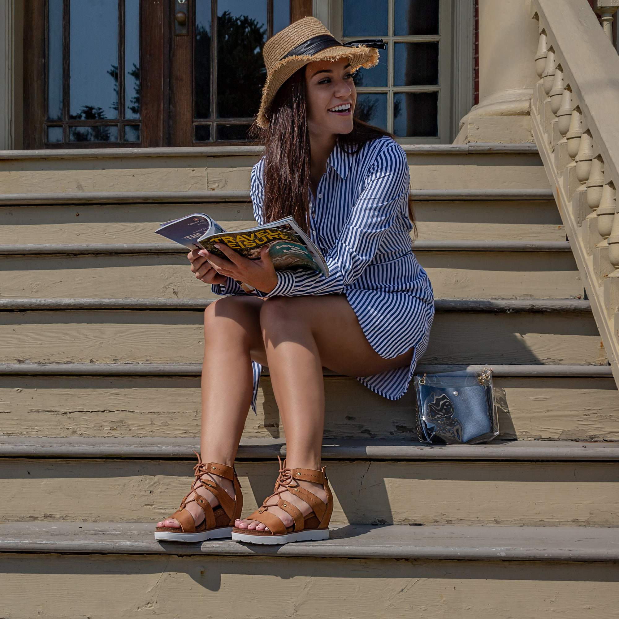 RIVERFRONT in NEW TAN Wedge Sandals