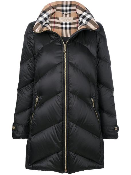 Burberry coat women cotton black chevron