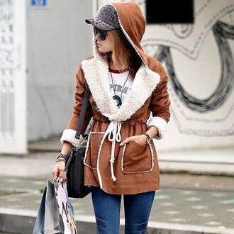 coat fashion wool hood