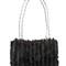 Iconic knitted mink shoulder bag