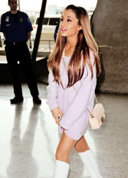 Dress Purple Ariana Grande Wheretoget