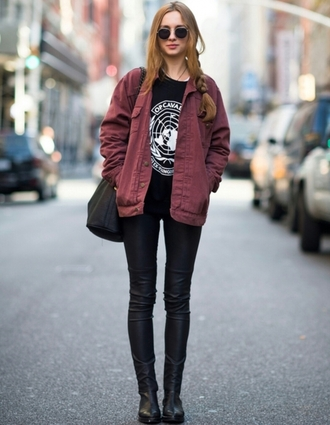 coat street fashion streetwear streetstyle street clothing street  style street styled streetlook street clothes leather jeans ankle boots on point clothing grunge shirt