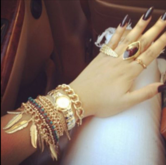 jewels gold rings bracelet