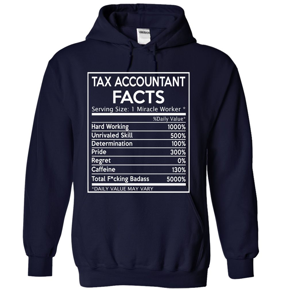 Tax Accountant Facts Funny T Shirt & Hoodie