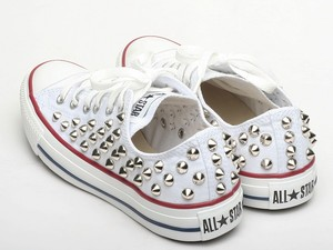 Spike Studded CONVERSE Chuck Taylor All STAR Low CANVAS Sneakers OX AM7652 WS | eBay