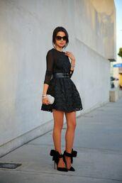 viva luxury,jewels,dress,bag,belt,shoes,sunglasses,nail polish,jewelry,bracelets,stacked bracelets,silver jewelry,black lace dress,little black dress,black shoes,black dress