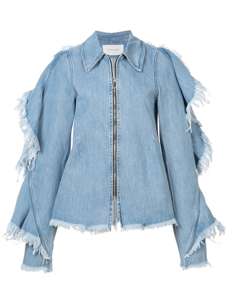 Strateas Carlucci jacket denim jacket denim women cotton blue
