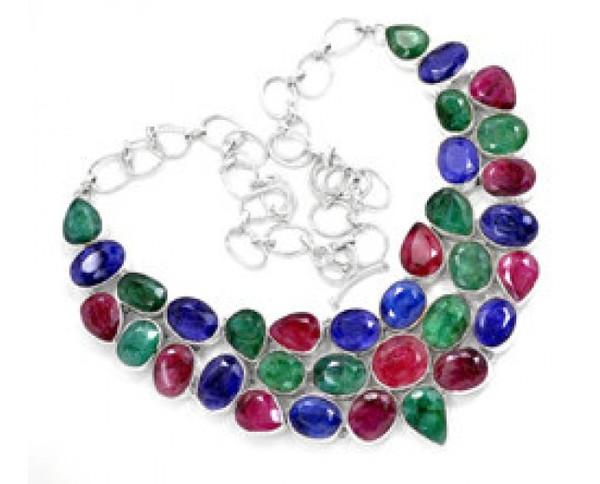 jewels stainless steel handmade jewelry gemstone necklace