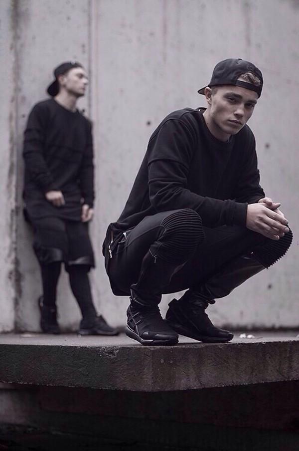 Shoes Ribbed Sweatpants Black Trill Joggers Menswear
