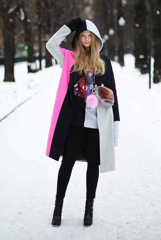 white rabbit dreams blogger coat sweater bag shoes winter outfits boots