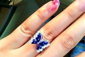 jewels,lapis lazuli,925,925 sterling silver,butterfly ring,925 silver,.925 sterling silver jewelry