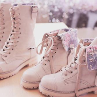 Cute Pink Combat Boots