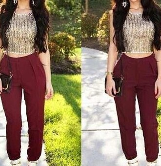 top crop tops gold knitted