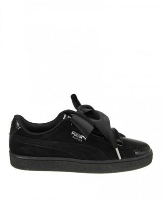 sneakers. heart sneakers suede black shoes