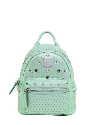 metallic backpack light green bag