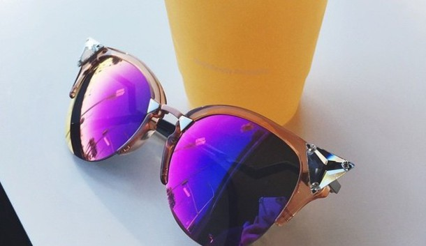 sunglasses purple glasses diamonds cute love summer