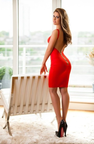 Red Open Back Bodycon Dress Dress Red Bodycon Bodycon