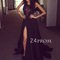 Custom made round neck lace black long prom dress, evening dress - 24prom