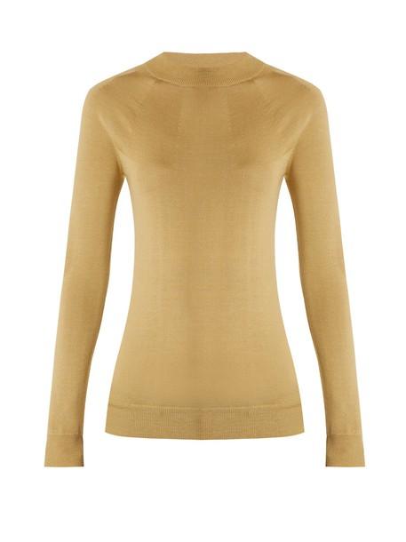 Lemaire sweater long silk wool tan