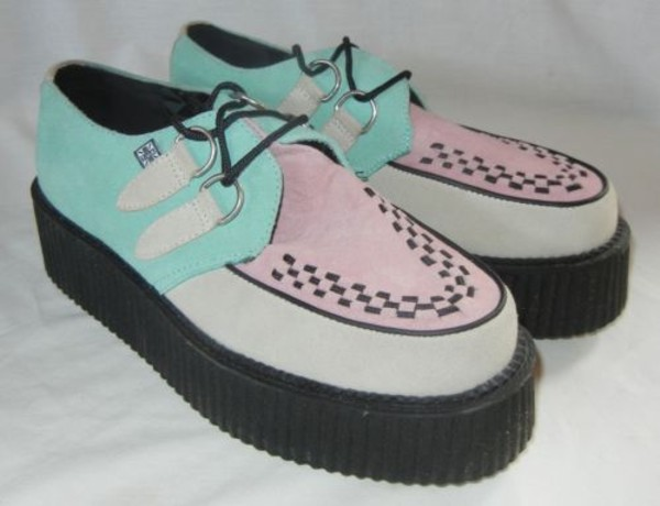 shoes creepers pink blue weird cute special style amazing