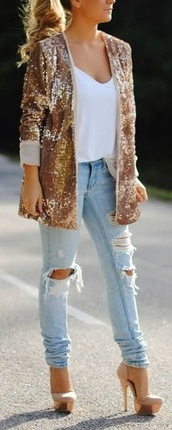 shoes,tan and good,jacket,cream and gold,high heels,closed toe