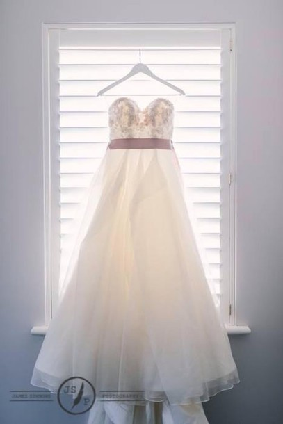 dress wedding gown perfect bride lace sash