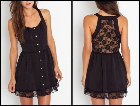 lace sneakers sneakers with lace dress little black dress lace dress pretty dress Lacie Tank Dress black lace black lace buttons button up black flowers