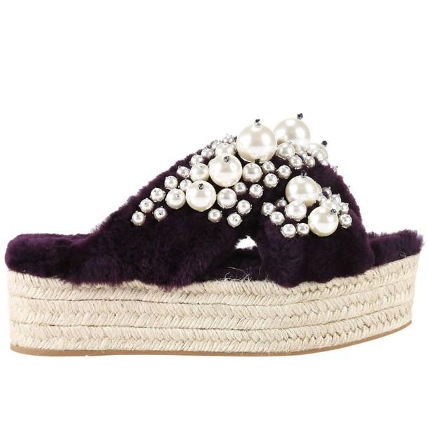 Miu Miu women shoes plum
