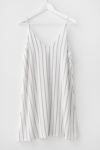 dress slip dress white white dress women casual pinstripe shirt dress pinstriped dress spaghetti strap spaghetti straps dress spaghetti strap silk dress sexy v-neck dress v neck dress v neck white top