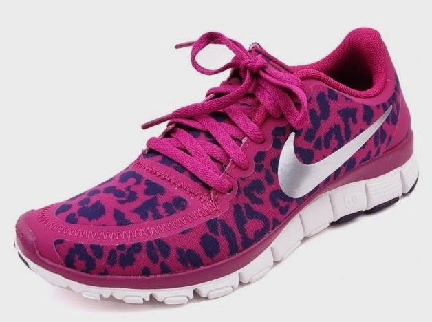Excellent NIKE FREE TR 3 FIT 555159007 LEOPARD PRINT CHEETAH Sz 55 ATOMIC PINK
