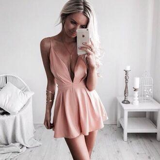 dress girl rose cute peach tumblr rose gold cute dress