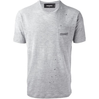 t-shirt dsquard dsquared grey t-shirt