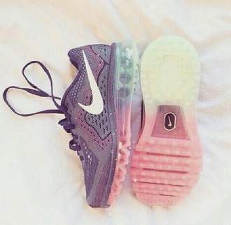 shoes glitter purple nike pastel white socks