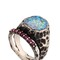 Sigillum ring with synthetic rubies