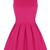 Pink Round Neck Sleeveless Pleated Flare Dress - Sheinside.com
