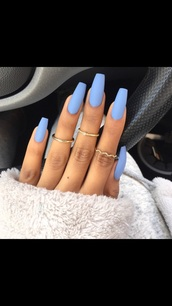 nail polish,blue,matte nail polish