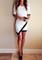 Asymmetrical wrap style dress