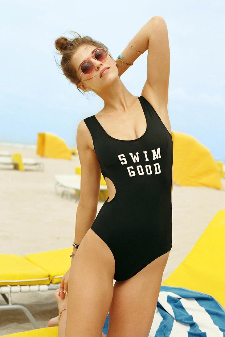 This Is A Love Song Swim Good One-Piece Swimsuit - Urban Outfitters