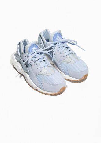 shoes pastel pastel blue sneakers spring blue sneakers light blue pastel sneakers & other stories