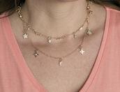 jewels,jewelry,boho jewelry,dainty necklace,star necklace,moon necklace